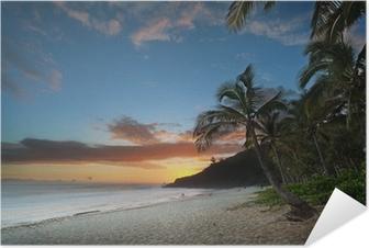 Selbstklebendes Poster Dämmerung am Grand Anse - Reunion