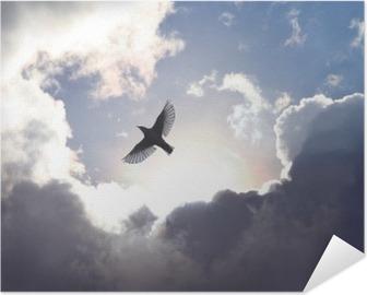 Selbstklebendes Poster Engels-Vogel im Himmel