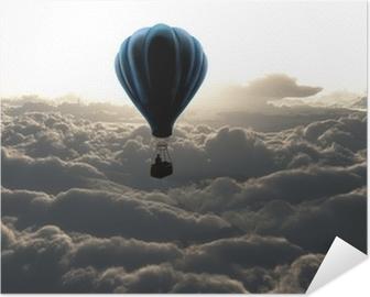 Selbstklebendes Poster Heißluftballon am Himmel