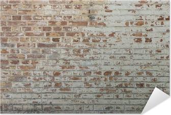 Selbstklebendes Poster Hintergrund der alten Vintage schmutzigen Mauer mit Peeling Gips
