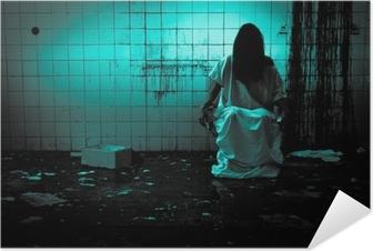 Selbstklebendes Poster Horror oder Scary Scene
