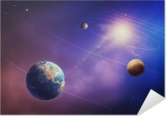 Selbstklebendes Poster Innere Sonnensystem Planeten