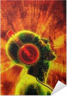 Selbstklebendes Poster Klang der Musik