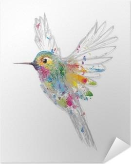 Selbstklebendes Poster Kolibri