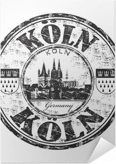 Selbstklebendes Poster Köln grunge Stempel