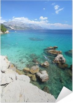 Selbstklebendes Poster Kroatien Urlaub - Marusici Strand von Adria