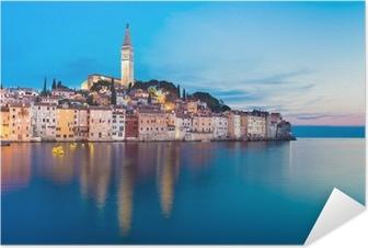 Selbstklebendes Poster Küstenstadt Rovinj, Istrien, Kroatien.