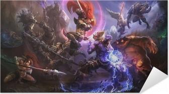 Selbstklebendes Poster League of Legends