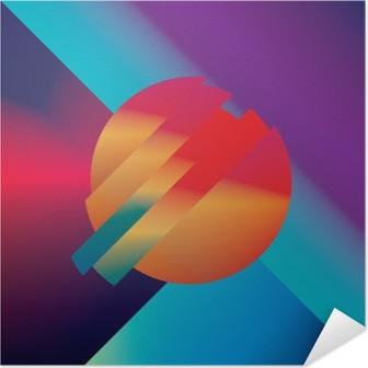 Selbstklebendes Poster Material Design abstrakte Vektor-Hintergrund mit geometrischen isometrischen Formen. Klar, hell, glänzend bunten Symbol für den Hintergrund.