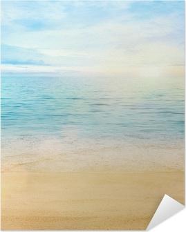 Selbstklebendes Poster Meer und Sand Hintergrund