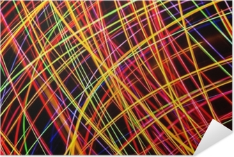 Selbstklebendes Poster Moderne Kunst. Neonlichtbeschaffenheit der langen Belichtung.