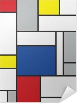 Selbstklebendes Poster Mondrian inspirierten Kunstwerke