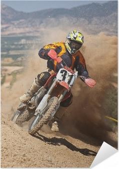 Selbstklebendes Poster Motocross-Staub
