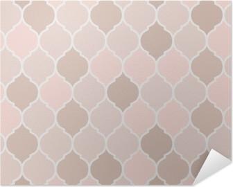 Selbstklebendes Poster Nahtlose Muster rosa Fliesen, Vektor