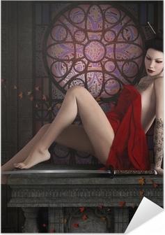 Selbstklebendes Poster Oriental Krieger entspannen Zeit