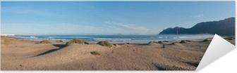 Selbstklebendes Poster Panoramablick auf den Strand von Famara, Lanzarote