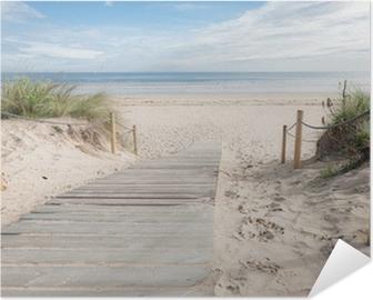 Selbstklebendes Poster Pfad zum Strand
