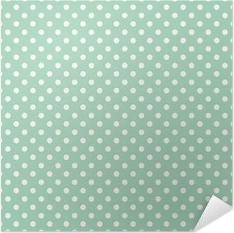 Selbstklebendes Poster Polka Dots auf Minze Hintergrund retro nahtlose Vektor-Muster