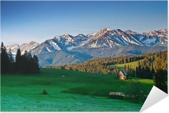 Selbstklebendes Poster Polnischen Tatra panoram in den Morgen