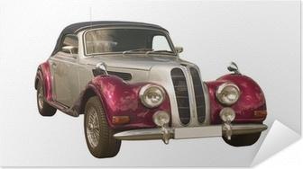 Selbstklebendes Poster Rosa Oldtimer, Classic Car, Cabriolet