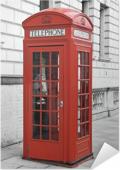 Selbstklebendes Poster Roten Telefonzelle in London, England