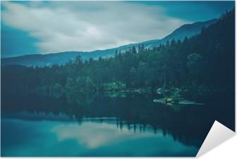 Selbstklebendes Poster Ruhe See-Landschaft