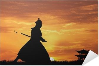 Selbstklebendes Poster Samurai