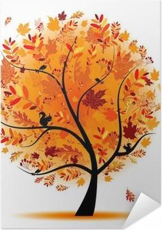 Selbstklebendes Poster Schöne Herbst Baum für Ihr Design