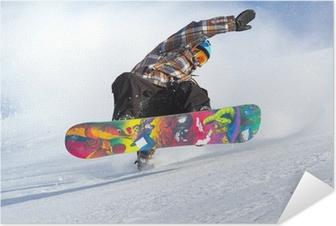 Selbstklebendes Poster Snowboard Evolution