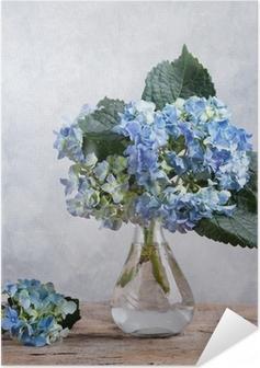 Selbstklebendes Poster Stilleben mit Hortensien