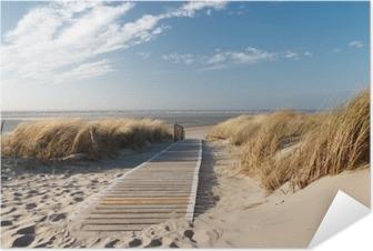 Selbstklebendes Poster Strand an der Nordsee