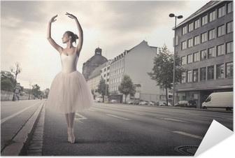 Selbstklebendes Poster Tänzerin