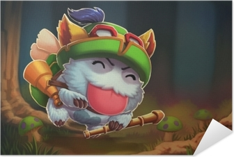 Selbstklebendes Poster Teemo - League of Legends