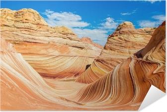 Selbstklebendes Poster The Wave, Arizona felsigen Wüste