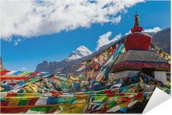 Selbstklebendes Poster Tibet. Mount Kailash. Südwand.