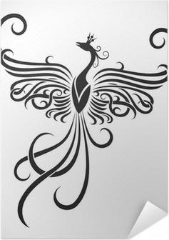 Selbstklebendes Poster Tribal Tattoo phoenix