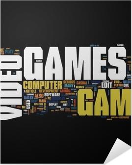 Selbstklebendes Poster Videogames