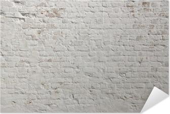 Selbstklebendes Poster Weiß Grunge Mauer Hintergrund