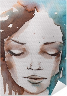 Selbstklebendes Poster Winter, kalt portrait