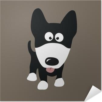 Selbstklebendes Poster Wolf Dog