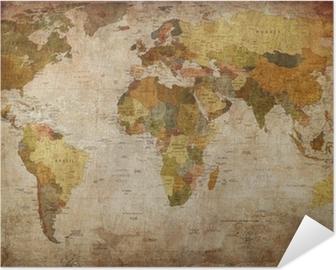 Selbstklebendes Poster World map
