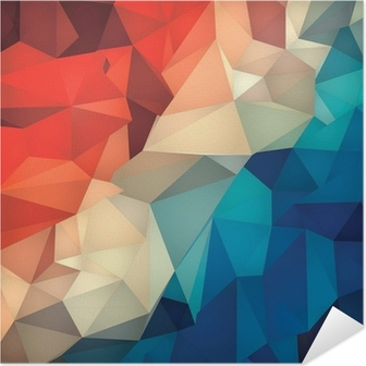 Abstract geometric low poly background. Self-Adhesive Poster
