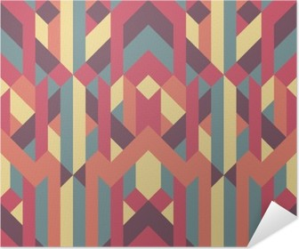 abstract retro geometric pattern Self-Adhesive Poster