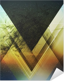 Abstract triangle future vector background Self-Adhesive Poster