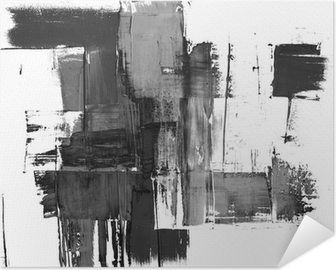 An abstract paint splatter frame in black and white Self-Adhesive Poster
