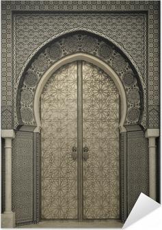 Ancient doors, Morocco Self-Adhesive Poster