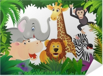 Animal in the jungle Self-Adhesive Poster