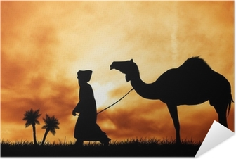camel in the desert Self-Adhesive Poster
