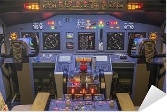 Cockpit of an homemade Flight Simulator - Boeing 737-800 Self-Adhesive Poster