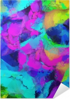 Colorful Abstract Painting. 3D rendering Self-Adhesive Poster